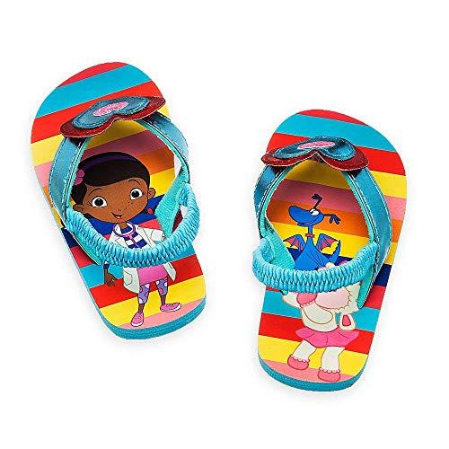 Disney Store - Girls - Doc McStuffins - Flip Flops (7-8 US Toddler, Blue)