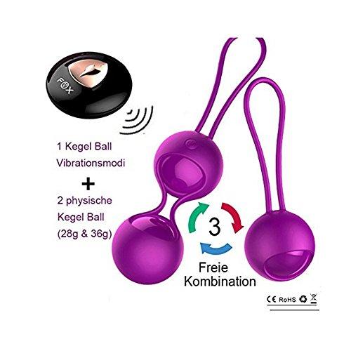 2 In 1 Liebeskugeln Beckenbodentrainer Mit Vibration, Kegel Ball Bullet Vibrator Vibro Ei Vibrator Ei Vibratoren Für Sie Klitoris Und G-Punkt Mit Fernbedienung