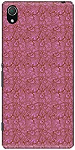The Racoon Lean printed designer hard back mobile phone case cover for Sony Xperia Z2. (seamless w)