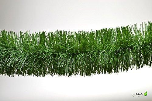 3m Grasgirlande Ø 10cm grün / Tannengirlande Weihnachtsgirlande Girlande Weinachten Christbaumschmuck Tanne Gras Deko Festzeltgirlande Hochzeit 100mm