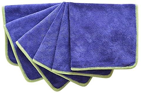 Sinland Microfibre Cloths Lint Free Cloth Kitchen Cleaning Cloth 30x30cm 6 Pack Grape - Viola Panni