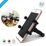 Features  One second to mount/unmount phone  180° rotatable to support potrait and landscape modes. Excellent quality rubber feet for perfect grip One product fits all bikes and phones Designed to be stable over high speeds and bumpy rides. Perfect a...