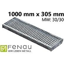 Gitterroststufe XSL Stahlstufe 800x270 mm 30//10 mm R11 Treppenstufe Stiege