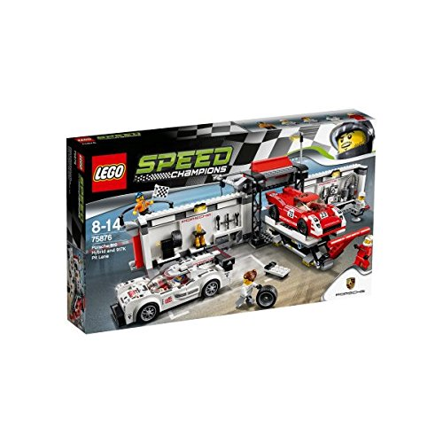 LEGO Speed Champion - Playset Puesto de reparación Porsche, (75876)