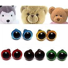 416ae18db2fd88 Kungfu Mall 100pcs 8mm 5 couleurs rondelles yeux de sécurité en peluche  marionnettes ours poupée jouets