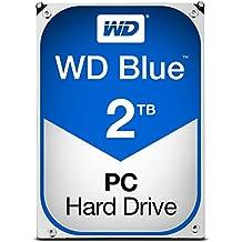 "WD Blue WD20EZRZ - Disco duro de 3,5"" para ordenadores sobremesa (2 TB, 5.400 rpm, SATA a 6 GB/s, caché 64 Mb)"
