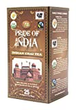 Pride Of India - Organic Indian Masala Chai Tea, 25 Count (1-Pack): BUY 1 GET 1 FREE (2 BOXES TOTAL)