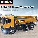 Lorenlli Fit HUINA Spielzeug 1573 1/14 10CH Legierung RC Dump Trucks Engineering BAU Auto Fernbedienung Fahrzeug Spielzeug RTR