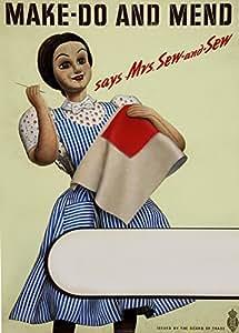 Vintage British Ww2 1939 45 Haberdashery Make Do And Mend