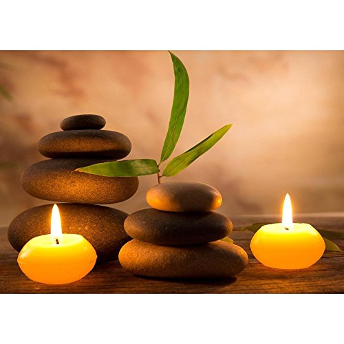 PB Spa Still Life With Aromatic Candles Canvas Painting 6mm Thick MDF...