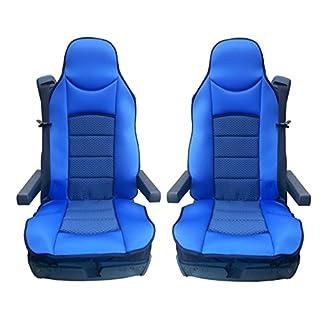 2x LKW-Sitz Blaue Sitzauflage Schonbezüge Sitzaufleger Polyester Neu Satz OVP Hochwertig