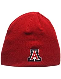 "Arizona Wildcats Red ""Edge"" Skull Cap - NCAA Cuffless Winter Knit Beanie Toque Hat by Zephyr"