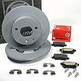 Zimmermann Bremsscheiben 5-Loch Coat Z/Bremsen + Bremsbeläge für hinten/die Hinterachse