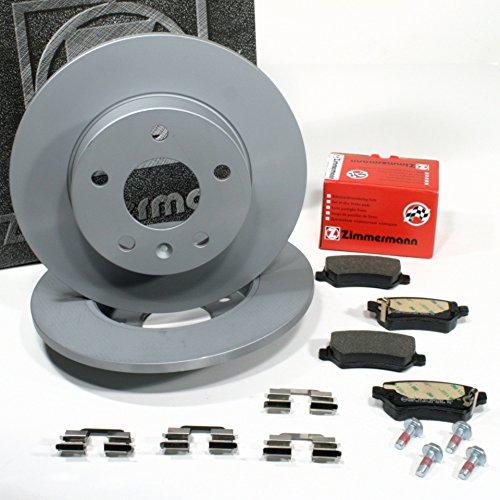 Preisvergleich Produktbild Zimmermann Bremsscheiben 5-Loch Coat Z / Bremsen + Bremsbeläge für hinten / die Hinterachse