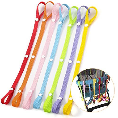 Hifot catenelle porta succhietto per bambini, nuovo sippy pal cinturino ciuccio per biberon manichino giocattolo porta-gancio per cinturino(7 pezzi)