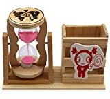 #9: Jiada Pen Stand Hour Glass With 1 Minute Sand Timer Desk Decor