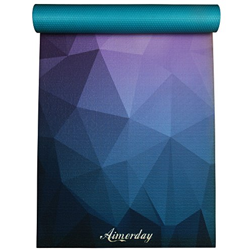 AIMERDAY Yogamatte, Gymnastikmatte Premium Bedruckte Fitnessmatte Sportmatte