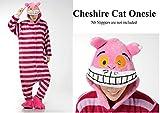 Kinder Jungen Mädchen Mens Frauen Cheshire Katze Rosa Streifen Film Alice im Wunderland Fantasy Onesie Loungewear Kostüm Kostüm Outfit Cosplay Rolle Spielen Unisex Komfortable (Women: 8-12)