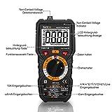 Digital Multimeter, Tacklife DM01M Advanced Multimeter mit 6000 Counts, True RMS, Temperaturmessung, Außenleiter-Identifizierung, Durchgangsprüfung, Hintergrundbeleuchtung Test