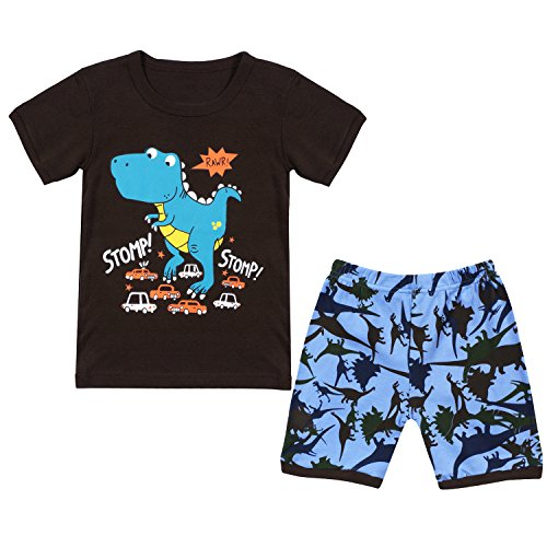 Qtake Fashion Jungen Schlafanzug Braun braun Gr. 7-8 Jahre, braun