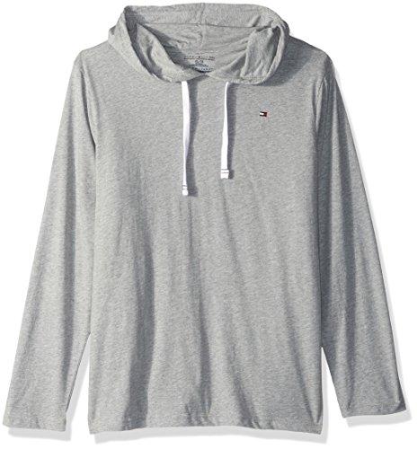 2146cce599d87a Tommy Hilfiger uomo Cotton Classics Pullover Hoodie maglia pigiama - grigio  - Large