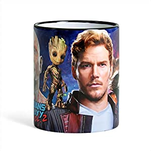 Guardians of the Galaxy Vol. 2 Mug Collage with Star-Lord, Rocket, Groot by Elbenwald Ceramic
