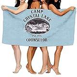 Eriesy Serviette de Bain,Serviettes,Cute Camp Crystal Lake Counselor Printting Beach...