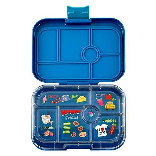 ❤ Yumbox Original M Lunchbox - mit 6 Fächern (Empire Blue) - Brotdose mit Unterteilung | BentoBox mit Trennwand Einsatz | Brotbox für Schule und Kindergarten Kinder, Arbeit. Ideal für Clean Eating Outmeal Lunch Tolle Arbeit Für Kinder