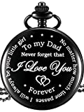 Papa Geschenk von Tochter zu Vater Graviert Taschenuhr - No Matter How Much Time Passes, I Will Always Be Your Little Girl