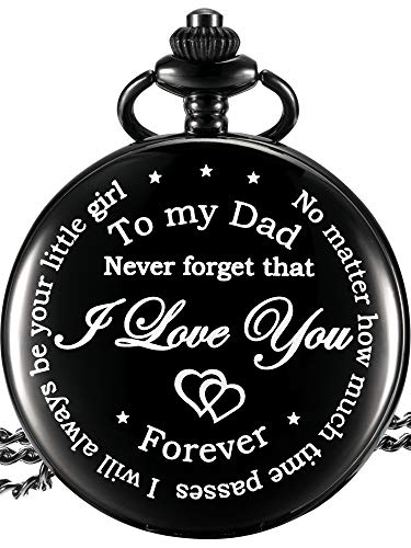 Regalo papà dalla figlia al padre orologio da tasca inciso-non importa quanto passa il tempo, i will always be your little girl
