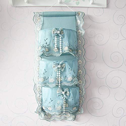 WAINIDE Erhalten Sie Hängetaschen, Multi-Pocket-Türen, Wandtuch Kunst Wandtuch Hängen Tasche, Violet Five Pockets