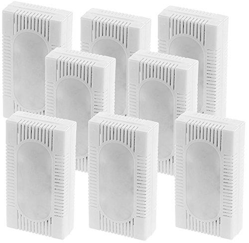 PEARL Kühlschrankdeo: 8er-Set 3in1-Kühlschrank-Frisch gegen Gerüche, Feuchtigkeit, Schimmel (Entfeuchter Kühlschrank)