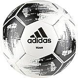adidas Team Glider Fußball, White/Black/Silver Metallic, 4 (S)