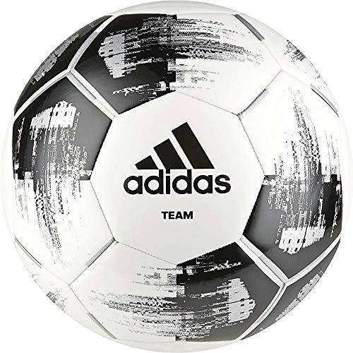 adidas Team Glider Fußball, White/Black/Silver Metallic, 4