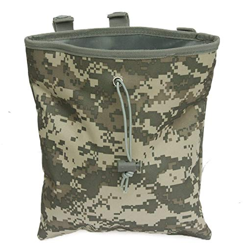 SHI-Y-M-ZDD, Tactical Mag Dump Pouch Airsoft Paintball Molle Magazintasche Ammo Taschen Jagd Militärgang (Farbe : ACU)