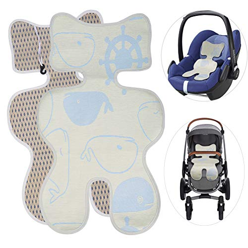 Atmungsaktive Sommer Sitzeinlage buggy sitzauflage sommer für Babyschale Universal Sitzauflage für Kinderwagen, Buggy, Kindersitz und Babyschale - Kühlt und schützt den Sitzbezug vor Flecken