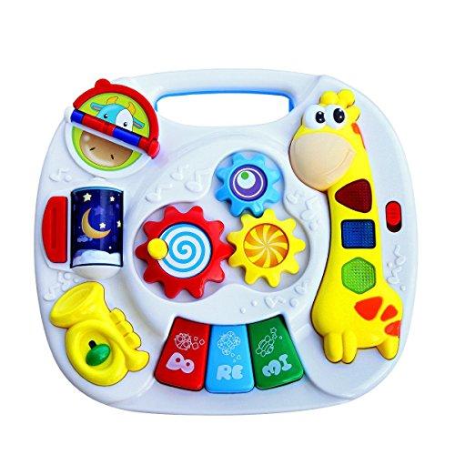 Juguete de educación electrónica para niños pequeños Early Development Activity - GALOOK Baby Toy - Mesa de aprendizaje musical - Mesa de aprendizaje y juegos multifuncional para niños, material de ABS, 11 x 10.2 x 6.3