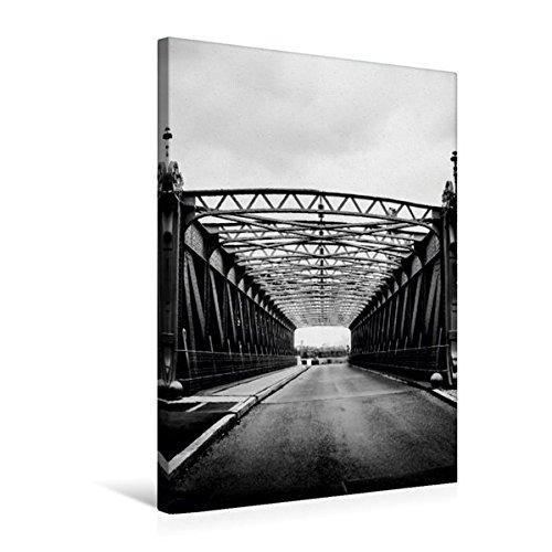 Premium Textil-Leinwand 50 cm x 75 cm hoch, Wien, Brücke über das Wehr in Nußdorf | Wandbild, Bild auf Keilrahmen, Fertigbild auf echter Leinwand, Leinwanddruck (CALVENDO Orte)