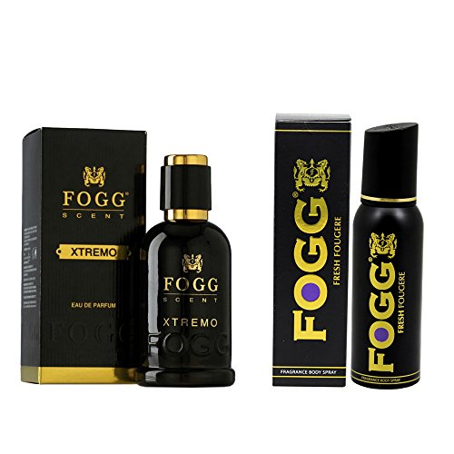Fogg Combo of Scent Xtremo Perfume 90ml and Fresh Deodorant Fougere Black Series 120ml For Men  available at amazon for Rs.719