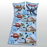 Herding 444350050 Bettwäsche Planes, Kopfkissenbezug: 80 x 80 cm + Bettbezug: 135 x 200 cm, 100% Baumwolle, Renforce