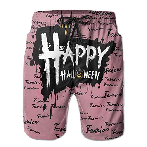 unks Happy Halloween Casual Sportswear Quick Dry Beach Shorts for Boys Summer XXL ()
