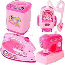 Babytintin Battery Operated Pink Household Home Apppliances Kitchen Play Sets Toys for Girls (C)
