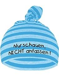Baby Mütze bedruckt mit NUR SCHAUEN - NICHT ANFASSEN / in 9 Farben