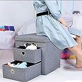 Pliant Logement] Stockage Changement de tabouret de chaussures,Textile Jouet Boîte de rangement Multifonction Changer de tabouret de chaussure Tabouret de remplacement de chaussure Tabouret canapé-40x40x40cm(16x16x16)