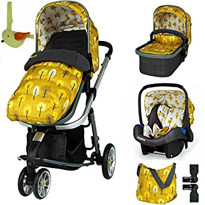 Cosatto Giggle 3 Travel System Spot The Birdie with Car Seat Bag footmuff & Raincover
