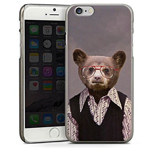 Apple iPhone 4 Housse Étui Silicone Coque Protection Benji Bear Ours Ours CasDur anthracite clair