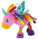 Lamaze Baby Spielzeug Ella, das Einhorn Clip & Go - Greifling mit Anhänger - Stoffspielzeug Kleinkind-Spielzeug - Motorikspielzeug zum Beißen, Greifen und Geräusche erzeugen - Ab 0 Monate
