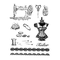 guanjunLI Sewing Sheet of Clear Stamps -DIY Scrapbooking, Planner, Card Making, journaling