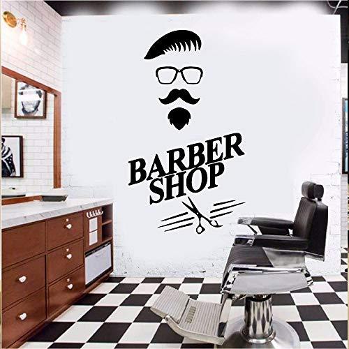 ljradj Art Hair Design Haarschnitte für Männer Barbershop Wandaufkleber Art Vinyl Sticker Friseur für Windows pink XL 58cm X 95cm