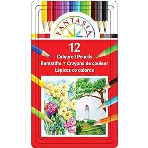 Pro-Art Fantasia Colored Pencils 12/Pkg-,  Other,  Multicoloured